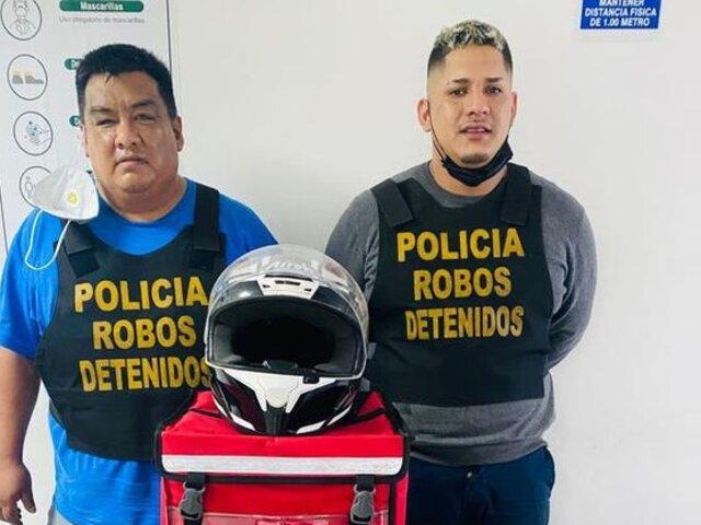 Caen falsos repartidores de delivery que arrebatan celulares en San Borja