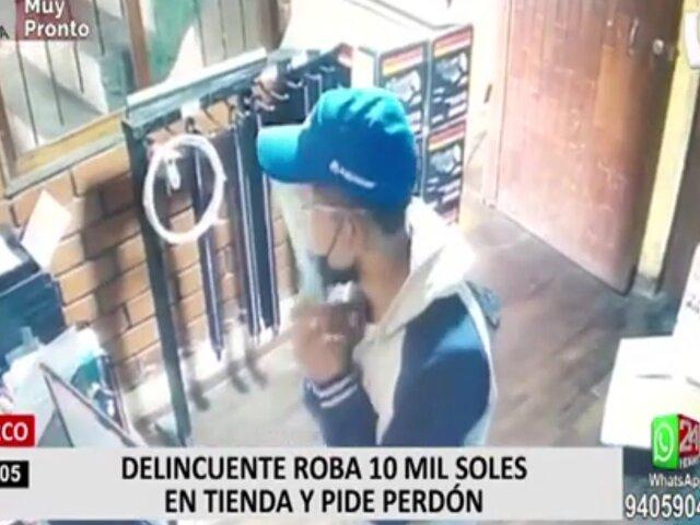 Surco: delincuente pidió perdón antes de robar a su víctima