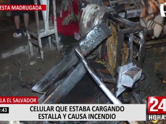 Familia salva de morir luego que celular explotara y desencadenara incendio en VES