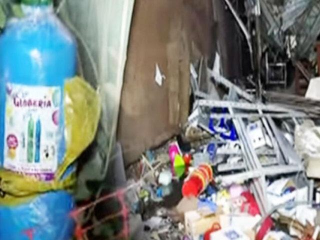 Así quedaron las viviendas afectadas por la explosión de un balón de helio