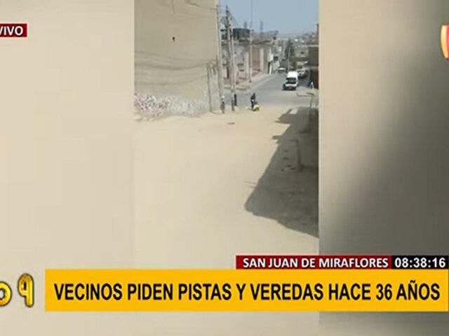 SJM: vecinos exigen pavimentación de pista y veredas desde hace 36 años