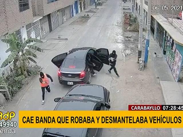 """Carabayllo: cae banda """"Los malditos de Punchauca"""" dedicados al robo de vehículos"""