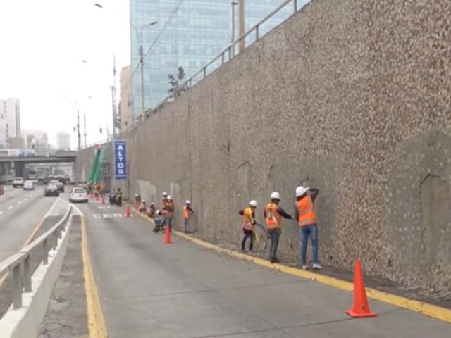 Miraflores: reiniciaron trabajos de rehabilitación del emblemático mural de la Vía Expresa