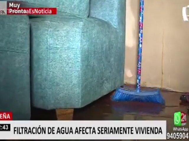 Breña: denuncian que filtración de agua afecta su vivienda