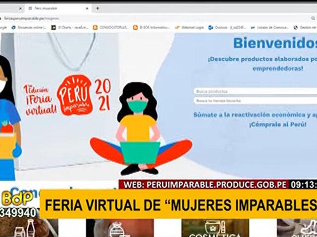 """Por el día de la mype: Produce organiza feria virtual """"Mujeres imparables"""""""