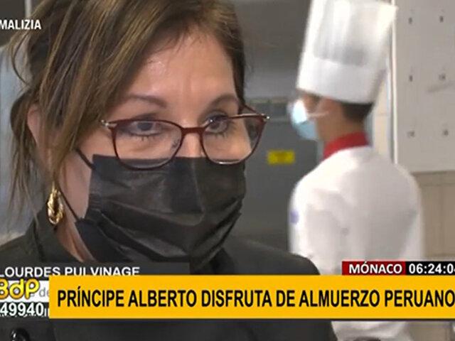 Príncipe Alberto de Mónaco disfruta exquisitos platillos peruanos de manos de chef arequipeña