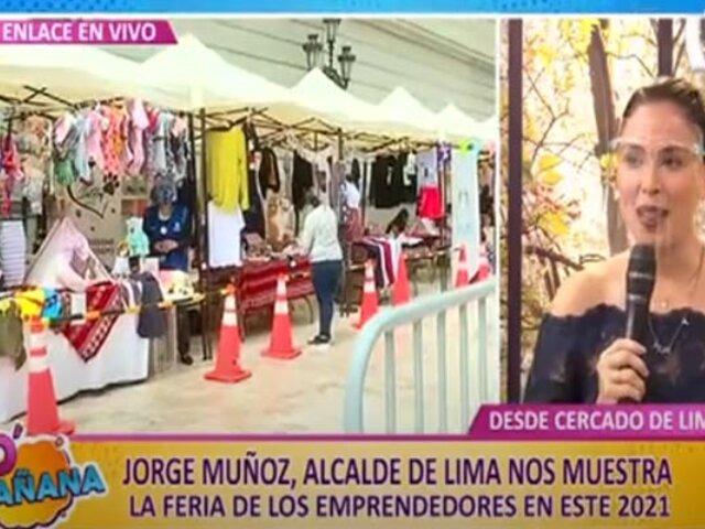 Emprendedores ofrecen novedosos productos en concurrida feria del Cercado de Lima
