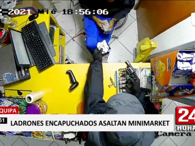 Arequipa: en dos minutos se llevan S/ 2500 en asalto a minimarket