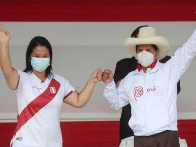 Keiko Fujimori y Pedro Castillo firmarán este lunes la Proclama Ciudadana