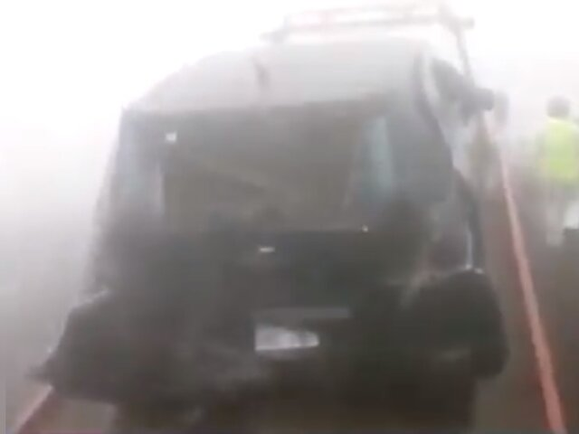 Reportan múltiple choque y heridos en la variante Pasamayo