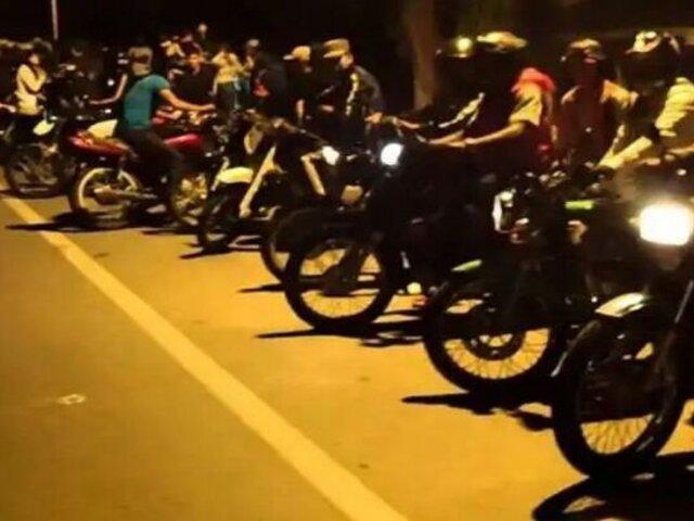 Vecinos fastidiados y preocupados por piques ilegales de motos en túnel Santa Rosa