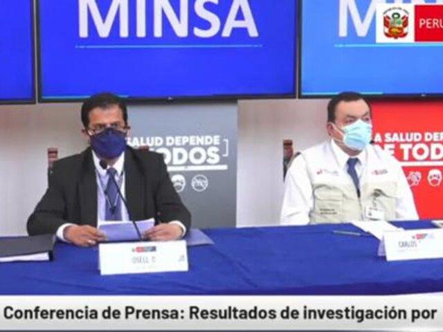 Minsa presentó informe sobre vacunación con jeringas vacías