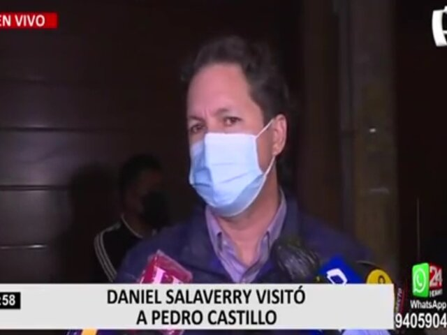 Daniel Salaverry expresó su respaldo por la candidatura de Pedro Castillo