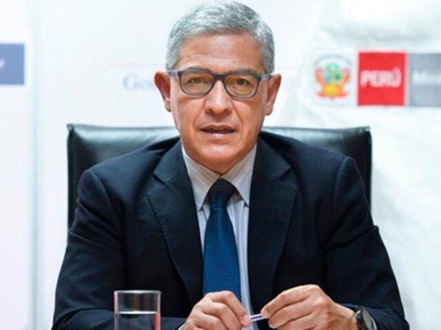 Ministro Elice: No se puede otorgar garantías para reuniones públicas por emergencia sanitaria