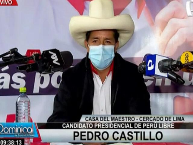 Pedro Castillo convoca a organizaciones políticas y hace llamado a la juventud