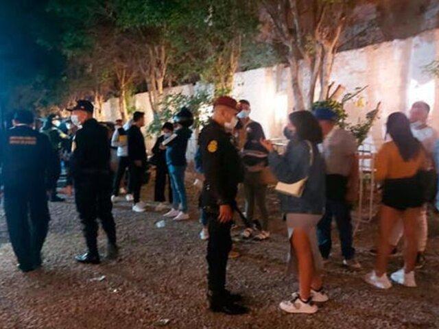 Fiesta Covid: más de 50 personas fueron intervenidas en centro de convenciones de Lambayeque