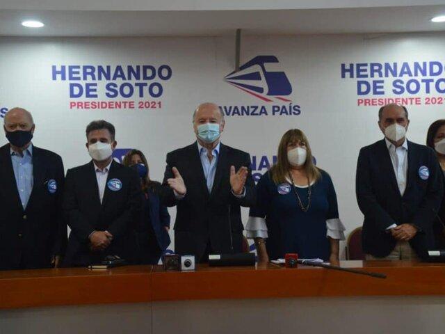 Segunda vuelta: Avanza País oficializa su respaldo a Keiko Fujimori