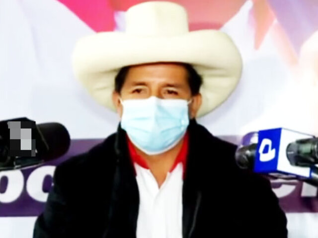 """Pedro Castillo: """"No estoy preocupado por las encuestas, sáquense eso de la cabeza"""""""