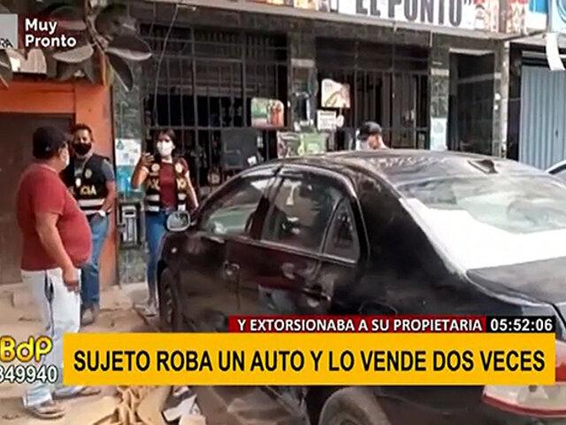 SJL: sujeto engaña a mujer para robar su vehículo y lo vende dos veces