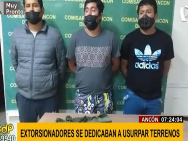 Ancón: extorsionadores amenazaban con fusil artesanal para apoderarse de terrenos