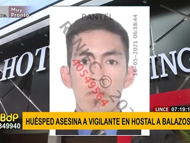 Vigilante fue asesinado a balazos al interior de un hotel de Lince