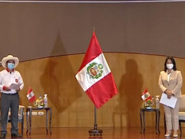 Proclama Ciudadana: Pedro Castillo y Keiko Fujimori firmaron juramento por la democracia