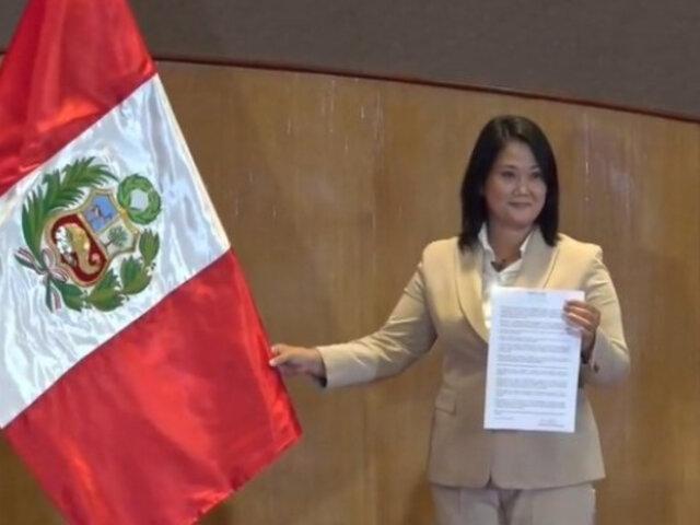 Keiko firma Proclama Ciudadana: Si el pueblo me da la oportunidad, podré cumplir mis promesas
