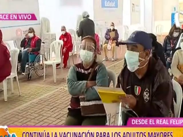 Vacunación en Real Felipe: mayores de 60 años reciben grandes noticias del Minsa