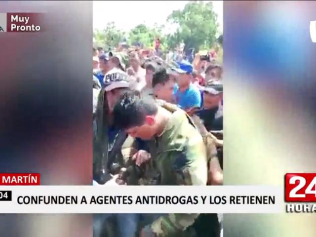 Tarapoto: policías fueron retenidos cuando realizaban operativo antidrogas