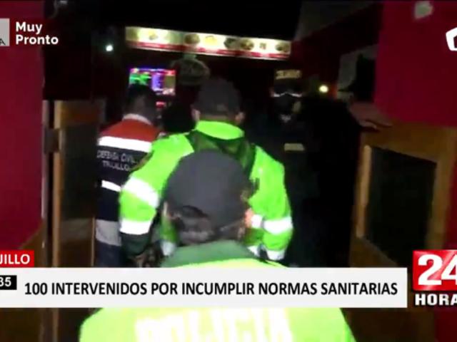 Trujillo: más de 100 intervenidos en locales por incumplir medidas sanitarias