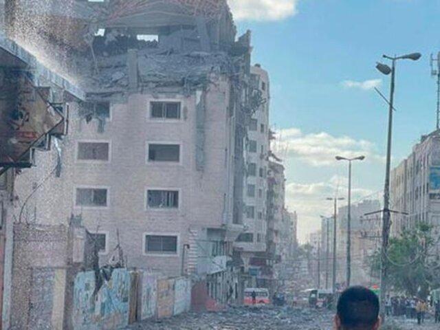 Franja de Gaza: bombardeo israelí a oficinas de la Media Luna Roja deja dos muertos y 10 heridos