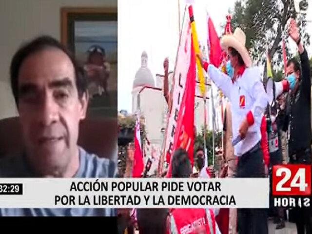Yonhy Lescano asegura que ninguno de los candidatos presidenciales merecen su voto