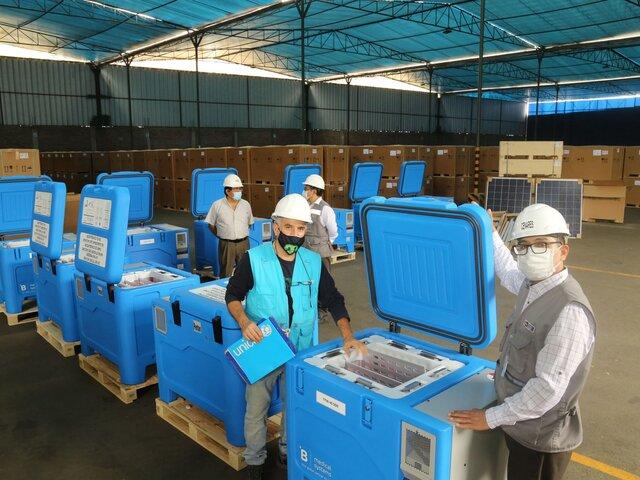 Minsa recibió más equipos de refrigeración para vacunas contra COVID-19