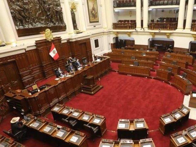 Junta de Portavoces rechazó incluir en el Pleno propuesta que plantea cuarta legislatura