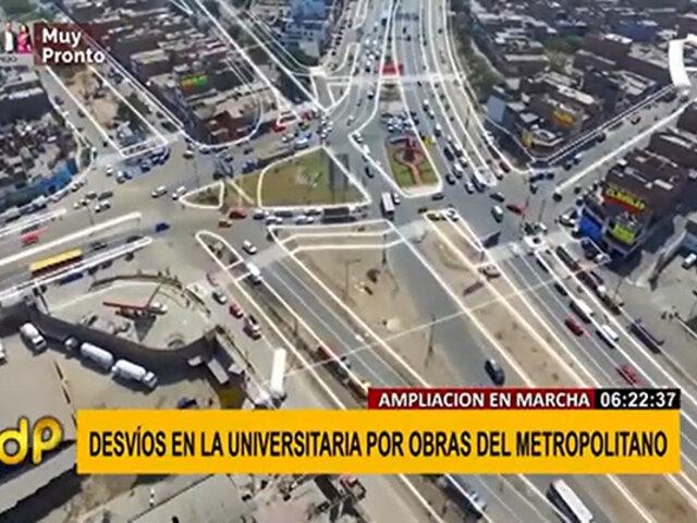 Metropolitano: conozca el plan de desvío tras inicio de trabajos de ampliación