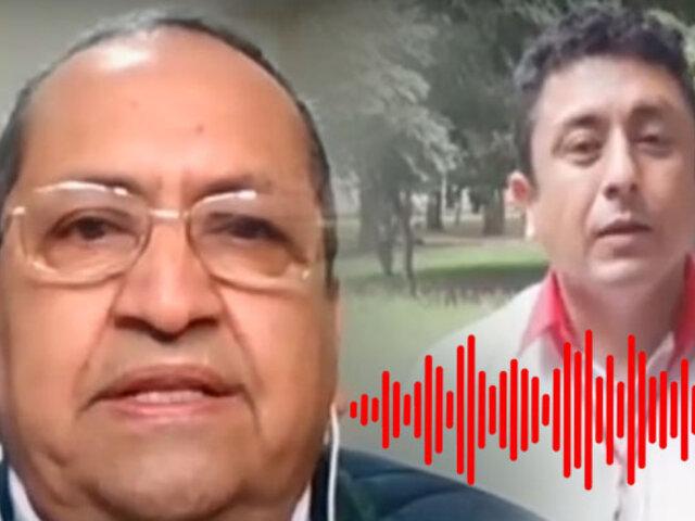 Exdirector de Inteligencia del MININTER se pronuncia por audio de Bemejo