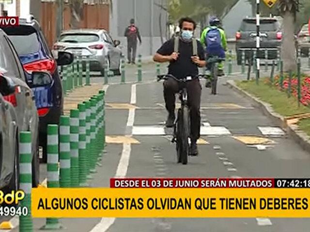 Desde este 3 de junio aplican multas para ciclistas: ¿cuáles son las normas a cumplir?