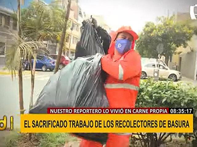 Reportero de BDP se convierte en recolector de basura por un día