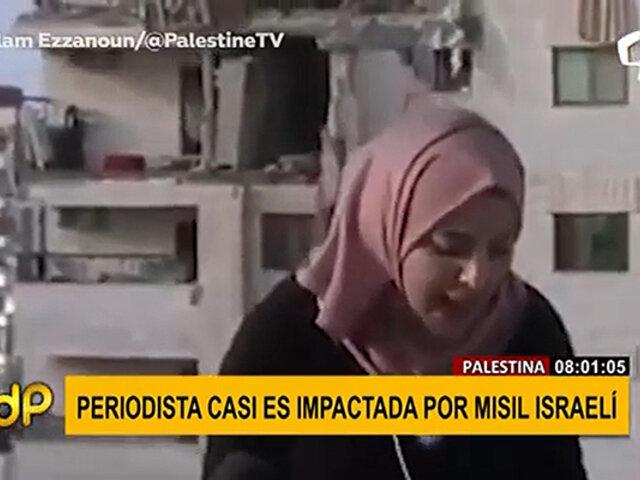 Medio oriente: periodista palestina es sorprendida por misil israelí