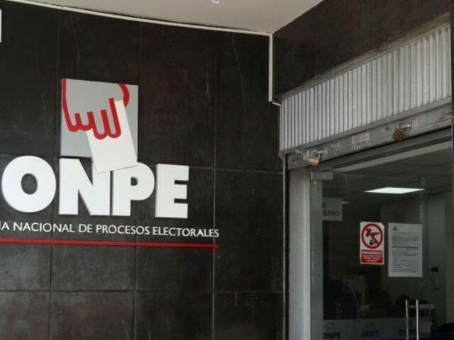 ONPE abrió proceso sancionador contra cinco partidos políticos