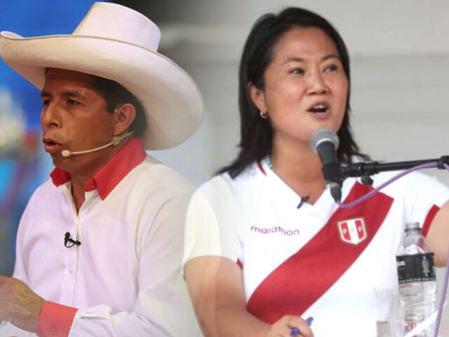 Datum: continúa empate técnico entre Pedro Castillo y Keiko Fujimori