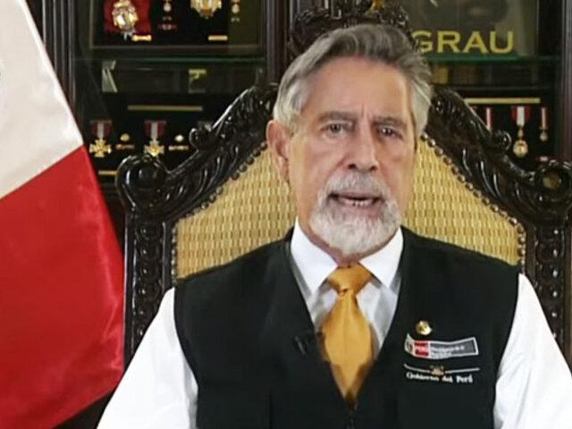Sagasti presentó informe de sus primeros seis meses de Gobierno