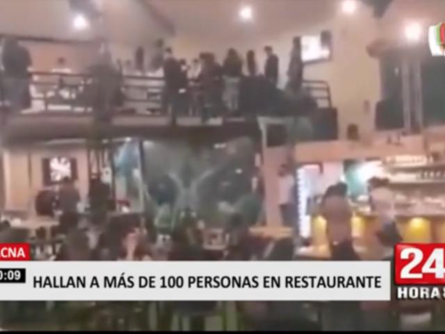 Más de 100 personas son halladas en restaurante de Tacna