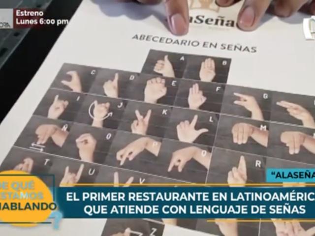 Primer restaurante latinoamericano que atiende con lenguaje de señas está en Perú
