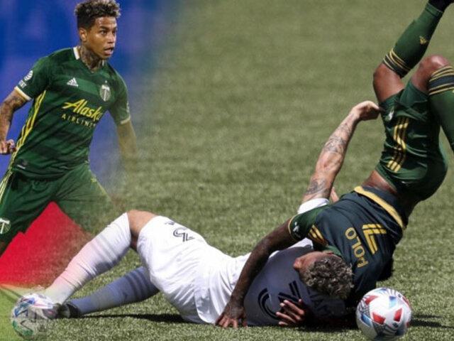 Andy Polo sale lesionado en el Portland Timbers vs LA Galaxy