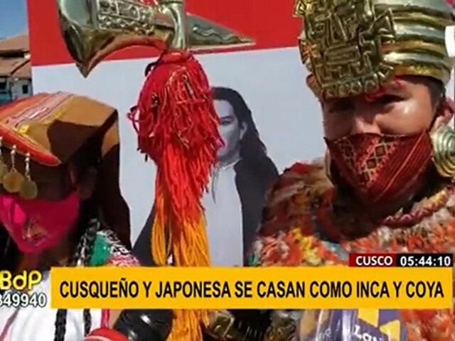 Curiosa boda en Cusco: una pareja decide casarse como Inca y Coya