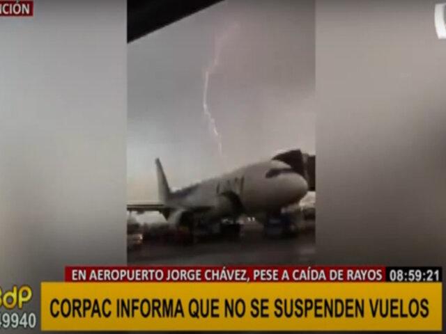 Rayos y truenos en Lima: Corpac informa que no se suspenden vuelos en aeropuerto Jorge Chávez