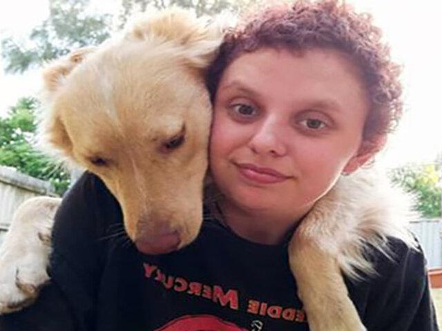 Australia: perro salvó a mujer con autismo durante ataque de pánico
