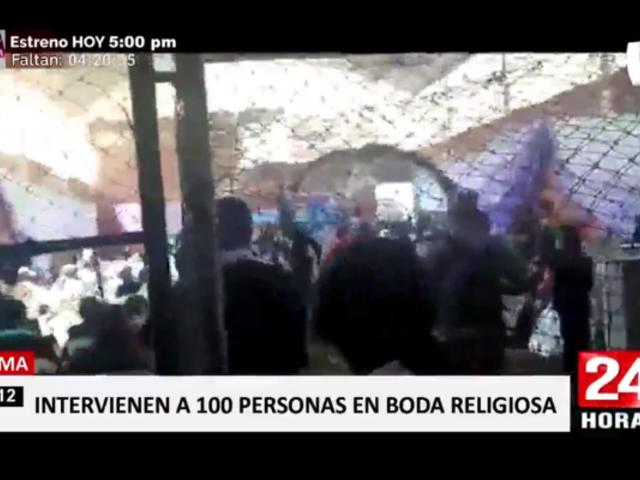 Tarma: intervienen a más de 100 personas en boda