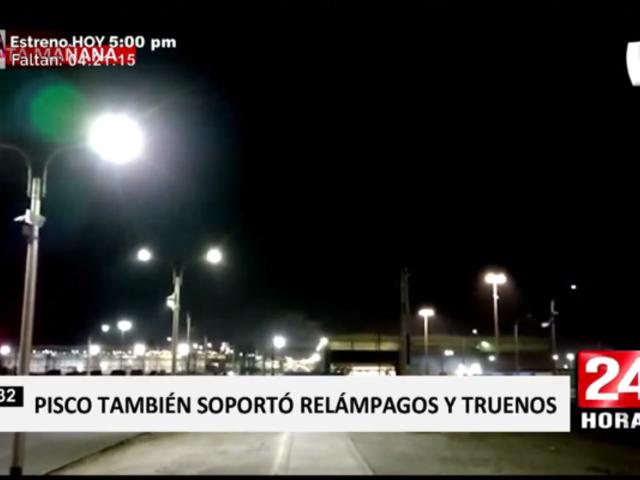 Rayos y truenos ocurrieron en Pisco desde las 4 AM